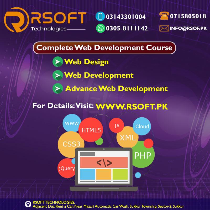 complete web development training course in pakistan