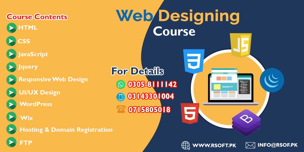 web designing course in sukkur pakistan
